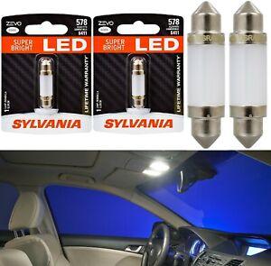 Sylvania ZEVO LED Light 578 White 6000K Two Bulbs Interior Glove Box Replacement