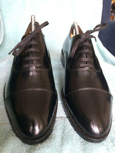 Great condition black Bally Oxford leather shoes size 7