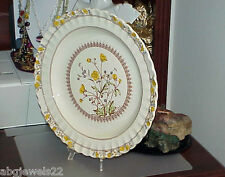 """Spode Buttercup 13"""" Round Platter England Old Spode Mark Bright Color Antique"""