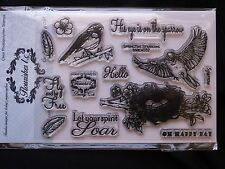 Flourishes LC Photopolymer Stamps Birds Sparrow Oh Happy Day Beverly Cole Spirit