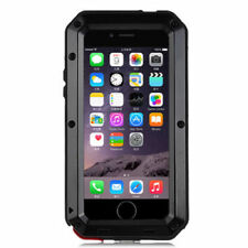 Apple iPhone 8 Plus 7 Plus Case Shockproof Metal Frame Tempered Glass Case Cover