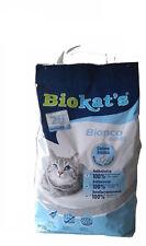 Arena lecho gatos antibacteriana y absorbente 100% BIOKAT´S BIANCO CLASSIC 10Kg