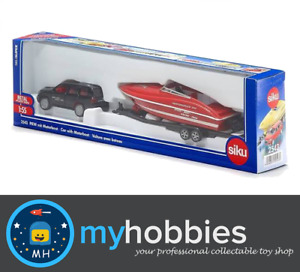 Siku - Toyota Car with Motorboat - 1:55 Scale Diecast Model vehicle Car