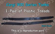 Corgi 900 Series Military Tanks 1 Pair of Black Plastic Treads - Resto Part