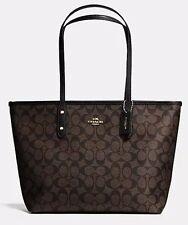 New Authentic COACH F55064 F58318 AVA Signature Tote Handbag Purse Bag Brown