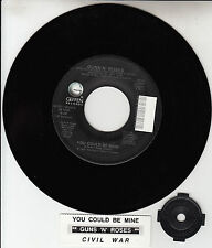 "GUNS N' ROSES You Could Be Mine 7"" 45 rpm 7"" NEW record + juke box title strip"