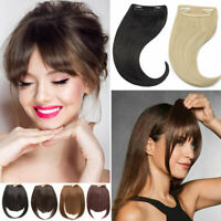 US Sale Side Bangs Clip on Neat Bang Fringes Clip in Hair Extensions as Human YT