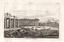 Paestum, 1841 acquaforte