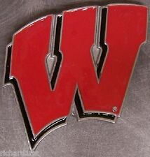NCAA Pewter Belt Buckle Wisconsin Badgers NEW
