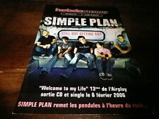 SIMPLE PLAN - Objet collector !!! STILL NOT GETTING ANY !!!