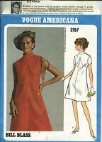 60's Vogue Americana 2157 sewing pattern A-line DRESS Bill Blass vintage sew MOD