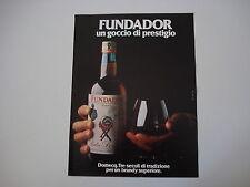 advertising Pubblicità 1980 BRANDY FUNDADOR