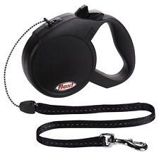 classic flexi retractable lead leash dog puppy cat pet black m 20kg 8meter cord