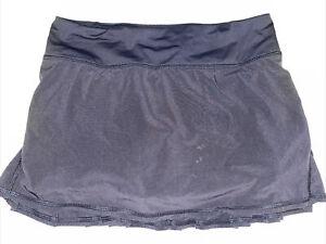 Lululemon Run Black Pace Setter Tennis Golf Skirt Skort 4 Pleated Free Shipping