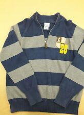 Mens Disneystore Crest Mickey Mouse Pullover Quarter Zip Sweater MEDIUM M