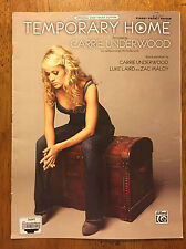 Temporary Home by Carrie Underwood music sheet song book 2009