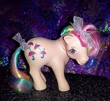 Vintage My little pony G1 🌂 *Parasol* Rainbow Earth pink purple umbrellas ~TLC