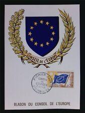 FRANCE CONSEIL EUROPE MK 1963 EUROPARAT MAXIMUMKARTE CARTE MAXIMUM CARD MC c6827