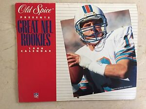 Vtg Old Spice GREAT NFL ROOKIES 1988 Football Calendar Marino Walls Perry Baugh