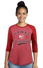 NBA Atlanta Hawks Womens Premium Triblend 3/4 Sleeve Raglan, Red, Size XXL