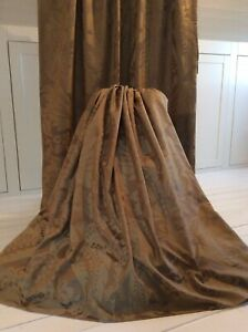 Stunning ZOFFANY GOLD fabric Curtains Blackout Can be interlined Long & Wide