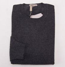 NWT $995 CRUCIANI Charcoal Gray 100% Cashmere Crewneck Sweater Eu 60 (3XL) Italy