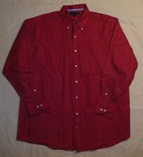 Tommy Hilfiger Brand Dark Red Casual Dress Shirt Button & Pocket Front XL Mens