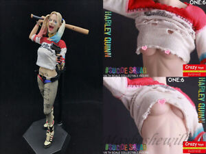 """DC Suicide Squad Harley Quinn Real Clothes 12"""" Action Figure Model Set Toy Gift"""