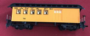 Tyco HO Train Car ~  1890 Combine Car Clerestory Roof Santa Fe 390 ~ IN BOX