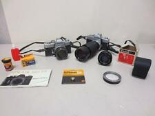 LOT of 2 Minolta SRT101 SLR Camera ~RESTORE/REPAIR~ MC Rokkor Vivitar Zoom Lens