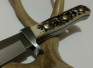 STAG AMERICAN HUNTER HUNTING BOWIE KNIFE W/ SHEATH CASE FULL TANG !!!
