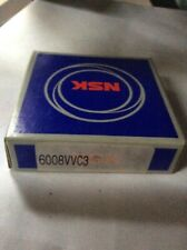 Nsk 6008Vvc3, Bearings 2 rubber seals New in Box sealed package
