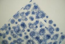 50 Plastic Die Cut Boutique Shopping Carry Gift Bags -350x250mm - Natural &Blue