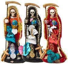 Imagen Santa Muerte Vestida 15 cm (c/ Amuleto Base) - Escoje tu color!