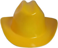 """Outlaw Cowboy Style Safety Hard Hat """"YELLOW"""" Ratchet Susp ANSI/OSHA Approved"""