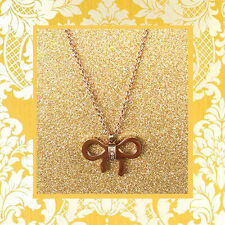"""CC20010 - Eye catching """"gold"""" pendant with bow stainless steel pendent"""