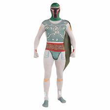 Star Wars Boba Fett Skinsuit Morph Suit Fancy Dress Mens UK Extra Large XL New U