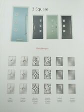 3 square finesse glass composite door