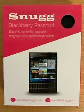 Snugg Blackberry Passport Black Leather Case with magnetic close