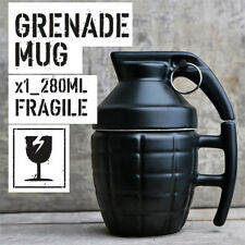 280ML3D Army Grenade Novelty Surprise Ceramic Coffee Mug Funny Tea Cup Military