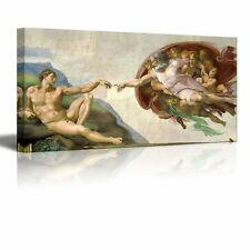 "Creation Of Adam by Michelangelo Giclee Canvas Prints Wrapped Wall Art-24"" x 48"""