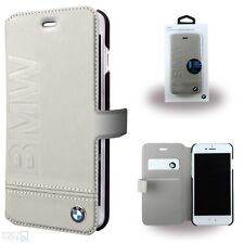 BMW Real Leather Phone Cover iPhone 6, 6s, 7, 8 Book Case Case Beige
