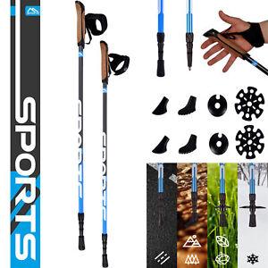 MSports Nordic Walking Stöcke hochwertige Qualität - Superleicht Walking Sticks