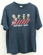 Used U2 Vertigo Concert Tour 2005 Short Sleeve Black Xl T-Shirt