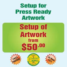 Artwork design & setup ready for print