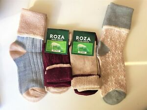 *4 PAIRS LADIES WOMEN WOOL HIGH QUALITY CHUNKY THERMAL SOCKS BOOT SIZE 4-7 STRQR