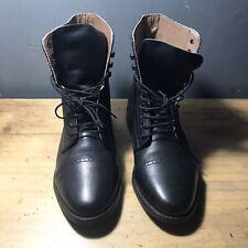 Black Genuine Leather Boots Size Uk6.5 US 8.5