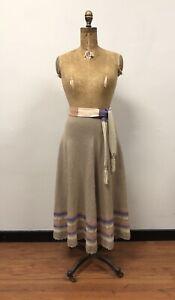 Small Vintage 1970s Knit Skirt Set