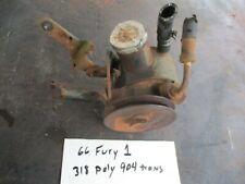 59-66 MOPAR 273 318 POLY POWER STEERING PUMP W/ MOUNT BRACKETS OEM WORKS