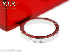 CARTIER LA Bague lanieres Anillo 950 Platino De Bodas ALIANZA Wedding Band